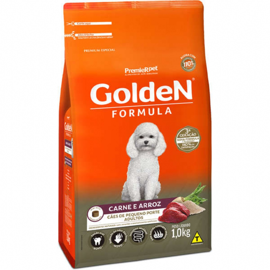 Ração Golden Adulto Formula Carne e Arroz Mini Bits